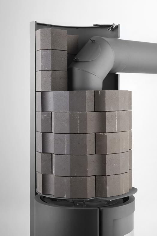 Le poêle à bois design Stûv 30compact H à accumulation de chaleur remporte l