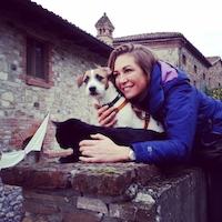 Tessa Gelisio con i suoi cane e gatto