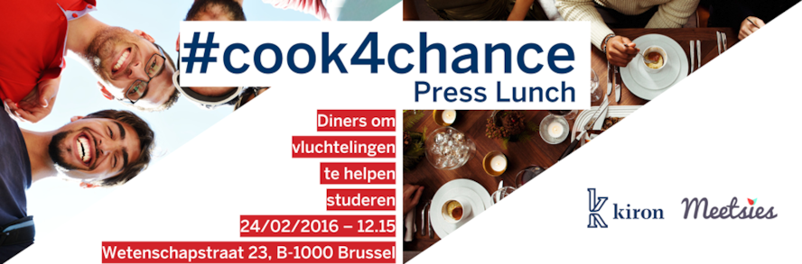 Uitnodiging perslunch: Lanceringsevenement #Cook4Chance