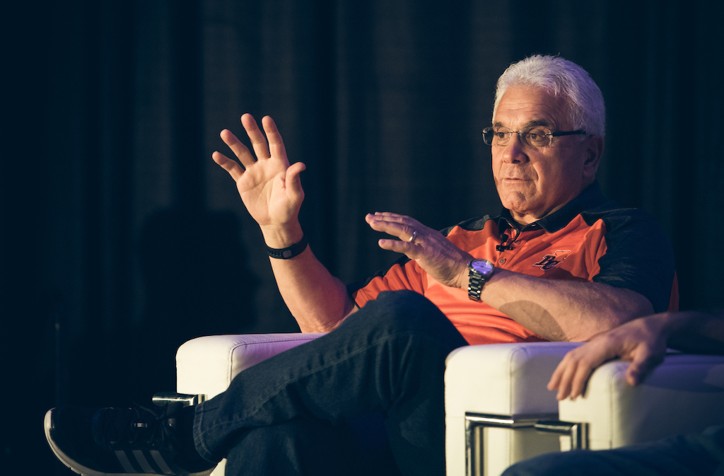 Wally Buono at the Football Operations Media Availability. Photo credit: Johany Jutras/CFL