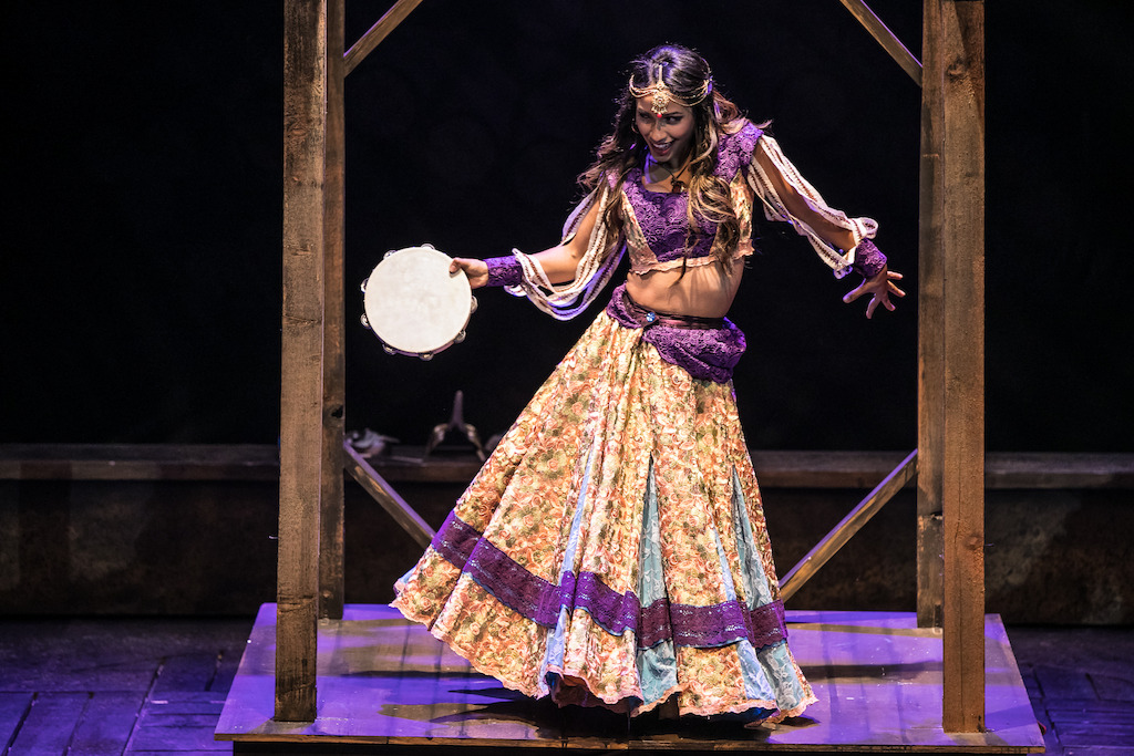 Julissa Sabino as Esmeralda in HUNCHBACK. Photo by Daniel Parvis.