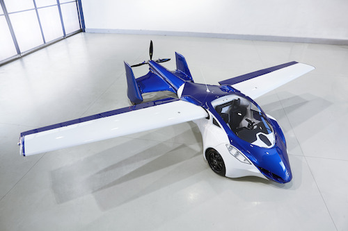 AeroMobil 3.0 - airplane configuration view from above.