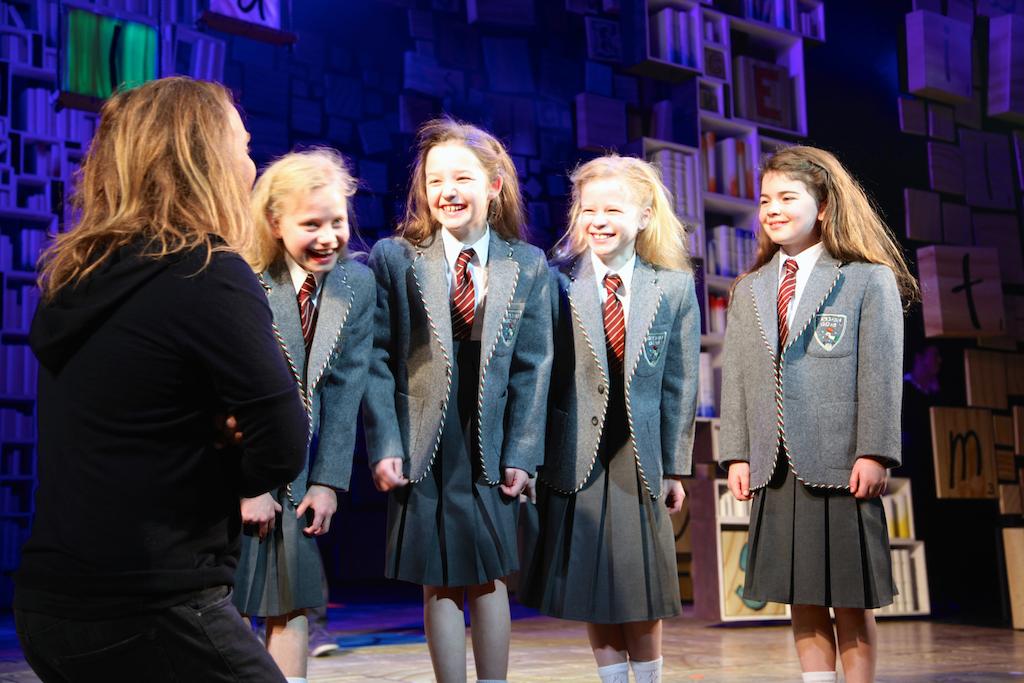 Matilda and Me.  Tim Minchin on stage with his Matildas.