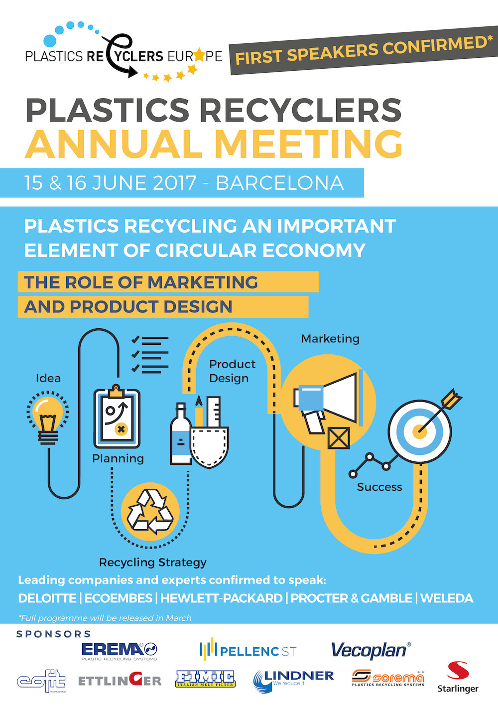 Leading companies and experts to speak at Plastics Recyclers Annual Meeting 2017
