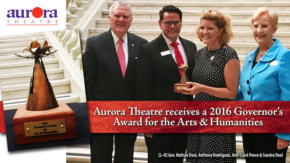 Aurora Theatre receives a 2016 Governor's Award for the Arts & Humanities