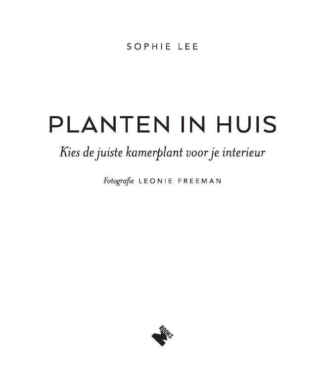 Planten in huis - Sophie Lee