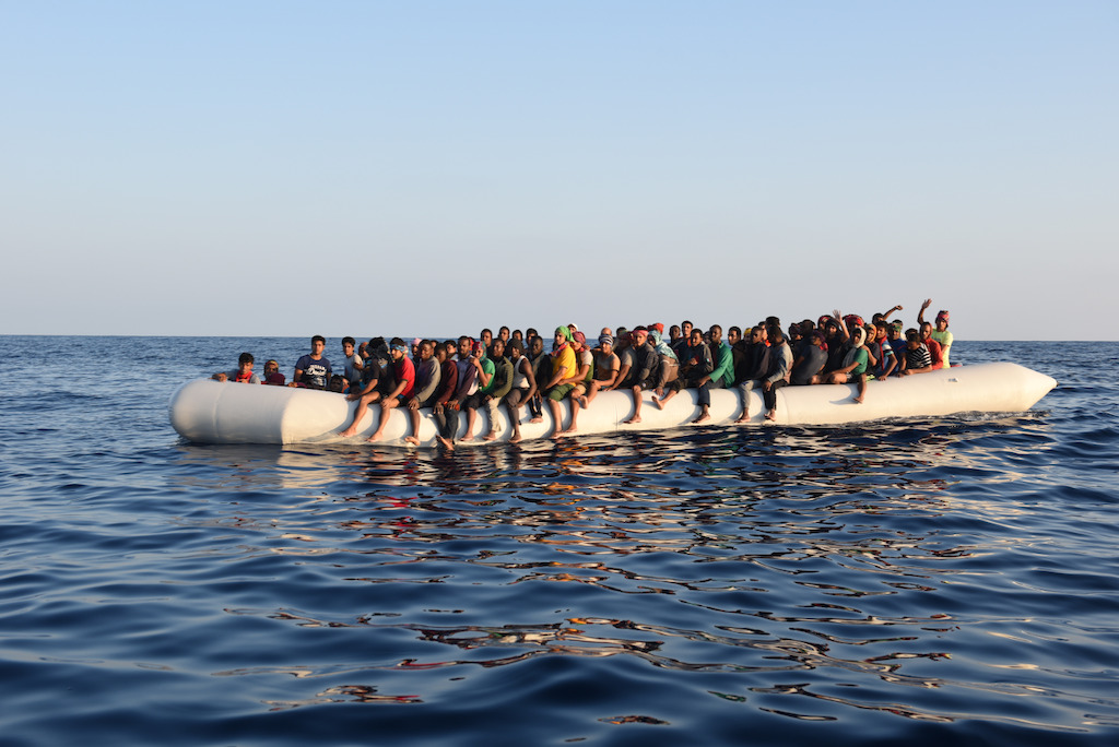 139 people, among them 32 women, waiting to be rescued by Dignity 1 on 10 of September. Photographer: MSF