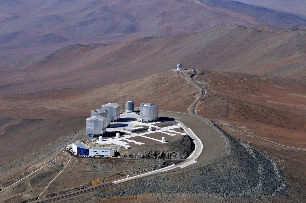 ESO's Very Large Telescope in Chile. Image: ESO.