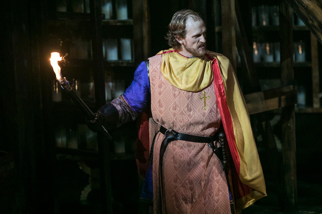 Lowery Brown as Phoebus in HUNCHBACK. Photo by Daniel Parvis.
