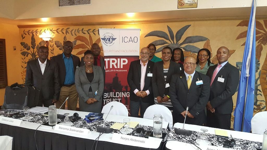 OECS Director General, Dr. Didacus Jules with facilitators and participants of TRIP Symposium