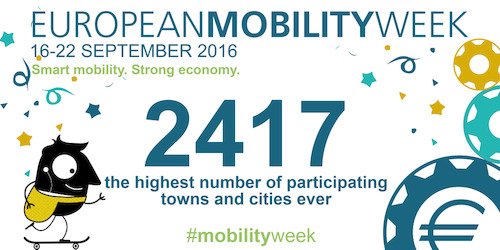 EUROPEAN MOBILITY WEEK 2016: Sustainable transport is an investment for Europe