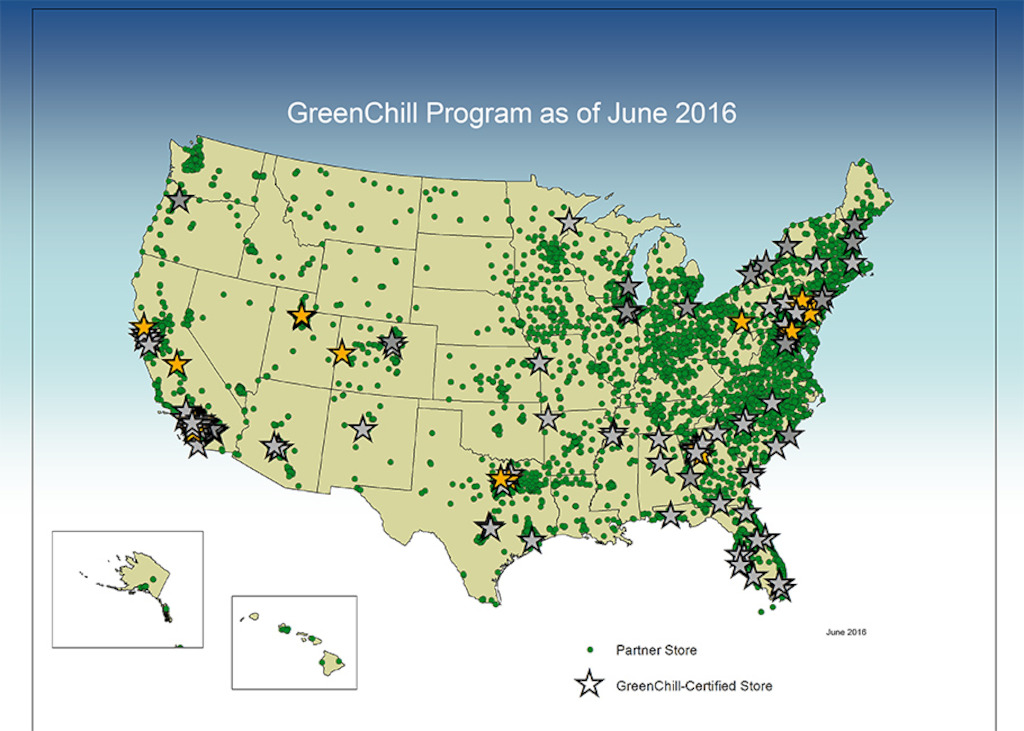 More than 10,800 individual stores are part of the GreenChill Partnership representing nearly 30 of the nations largest grocery chains and small independent stores and food cooperatives like Hanover.