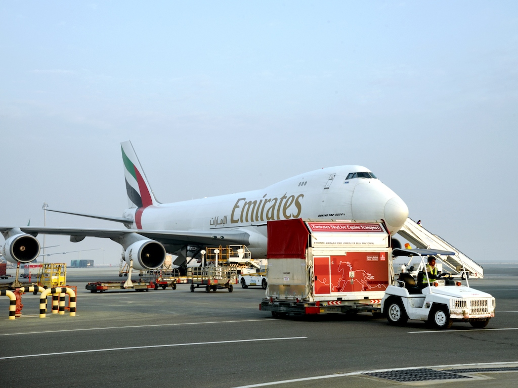 Emirates SkyCargo  brings champion racehorses to the Dubai World Cup
