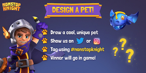 """Design a Pet"" competition opens for Nonstop Knight!"