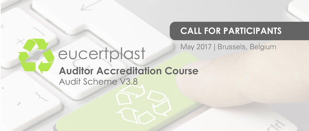 EuCertPlast Accreditation Course: Audit Scheme V3.8