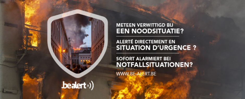 Overheid lanceert BE-Alert met The Oval Office