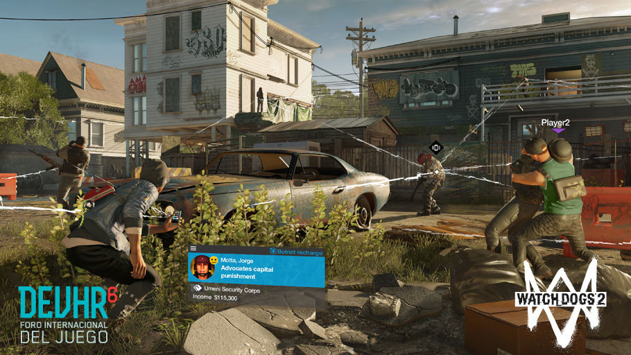 UBISOFT® PRESENTA UN WALKTHROUGH EXCLUSIVO DE WATCH_DOGS 2® EN EL  FORO INTERNACIONAL DEL JUEGO  DEVHR 2016
