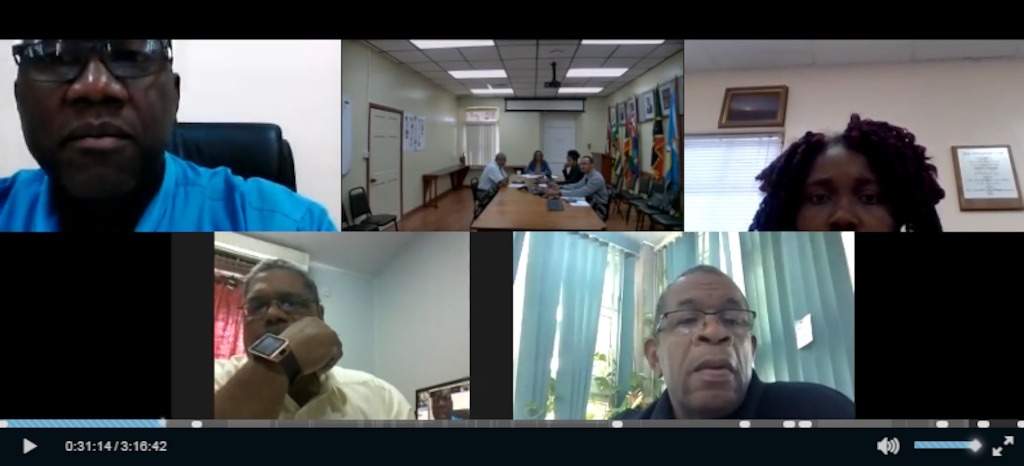 Screen Shot of PMC Meeting