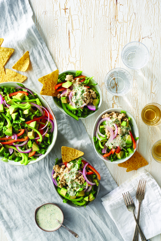 Turkey Green Chile Taco Salad