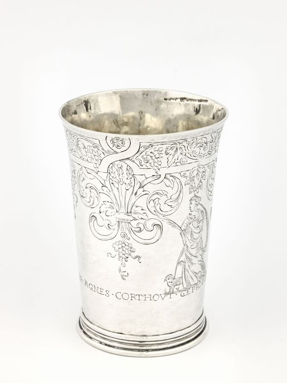 Profession cup of Agnes Corthout, Gabriel Cantillion, Leuven, 1677 © Lukas - Art in Flanders, foto Dominique Provost