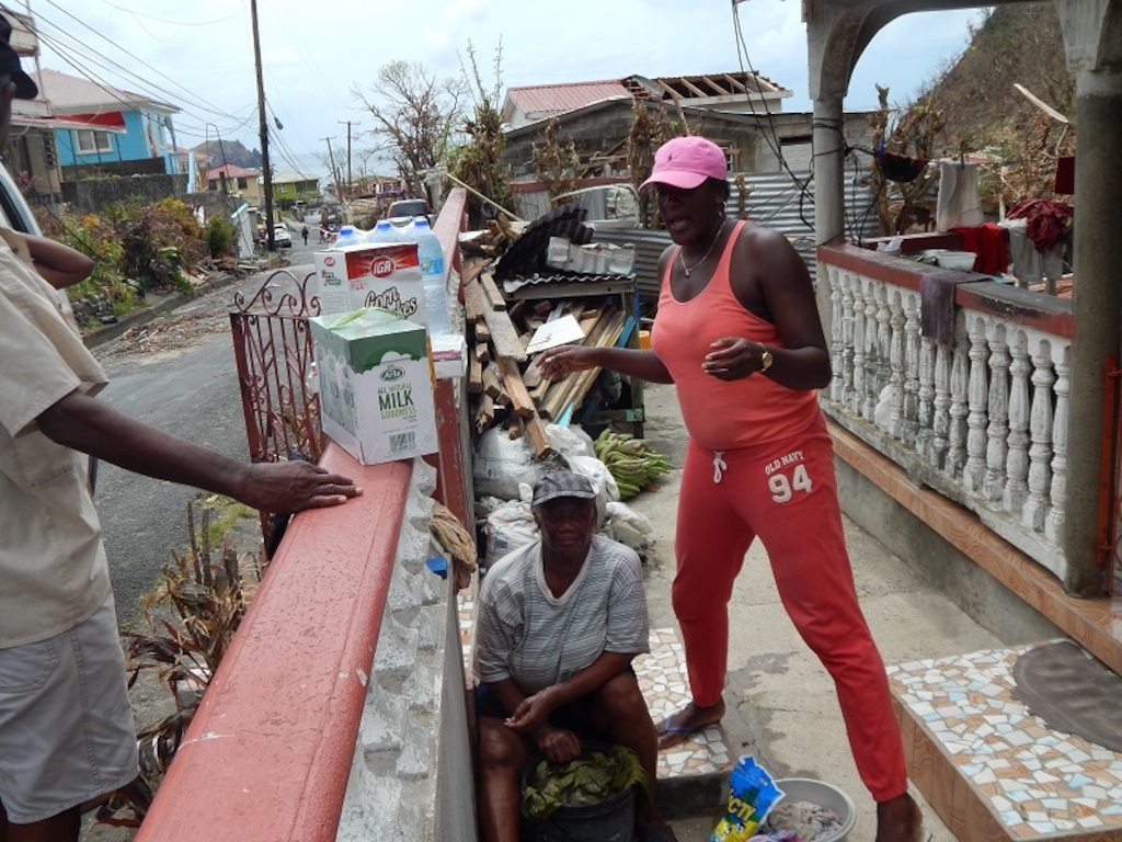 Emergency food supplies reaches a family in Dominica.<br/><br/>Photo credit: Janeka Simon