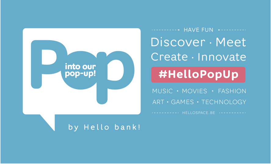 Hello bank! opent pop-up in hartje Brussel