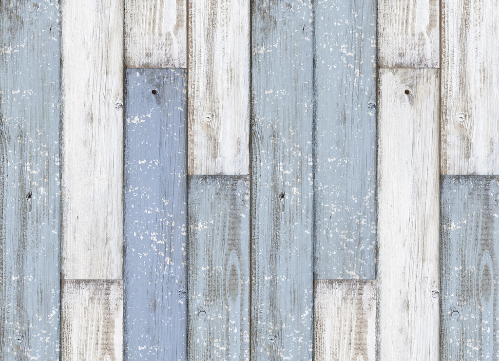 Clubhouse |   <br/>Blue and White Wood Plank Vinyl Flooring