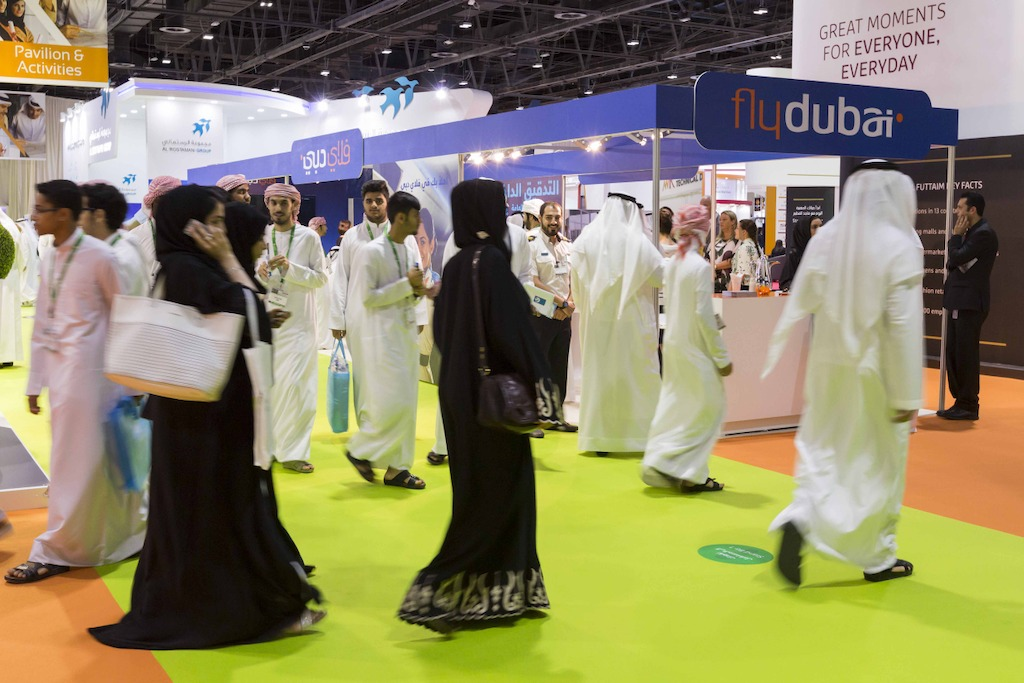 The flydubai stand
