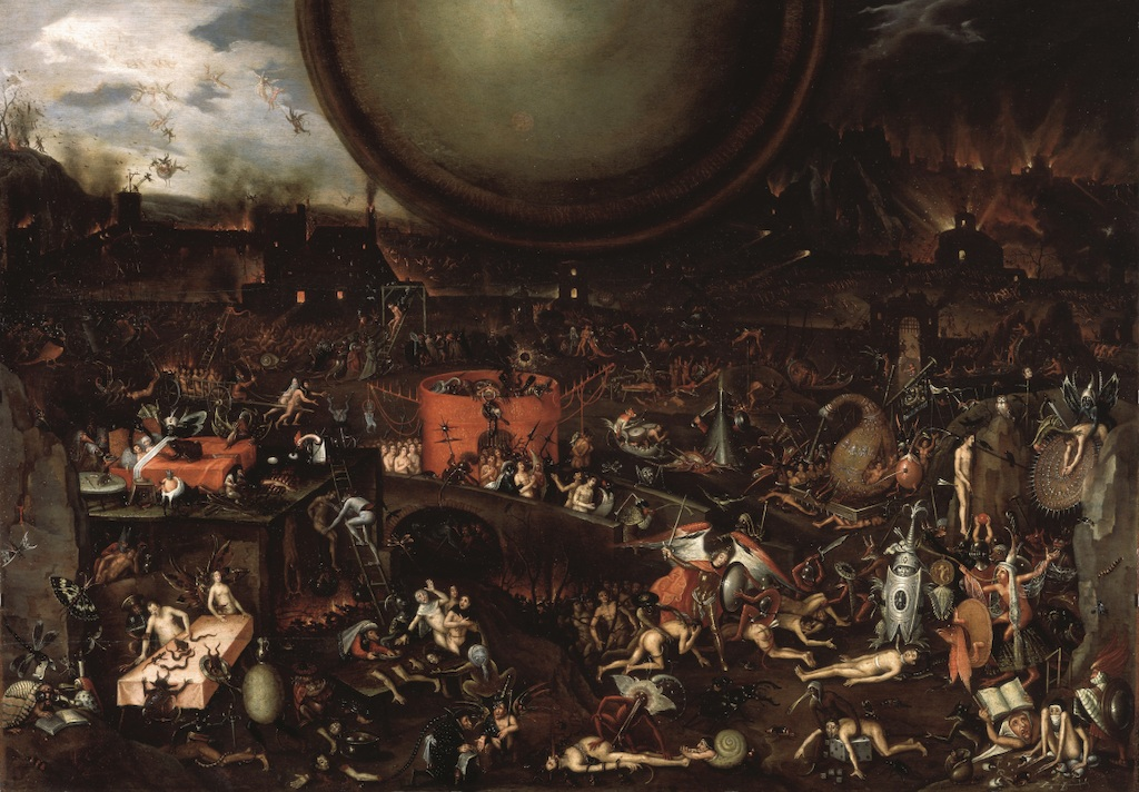© Follower of Jheronimus Bosch, Apocalyptic Vision, c. 1575–1600 (1595?). Venice, Palazzo Ducale.