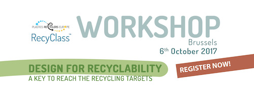 LAST CHANCE TO REGISTER: Design for Recyclability Workshop | 6 OCT. 2017