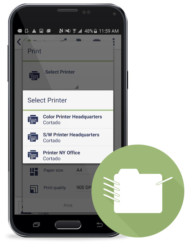 Cortado Enables Android Print for Enterprises
