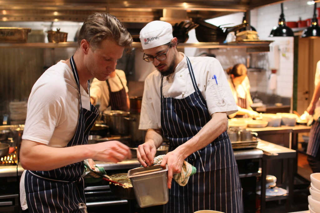 Tom Tilley learns the ropes in the kitchen