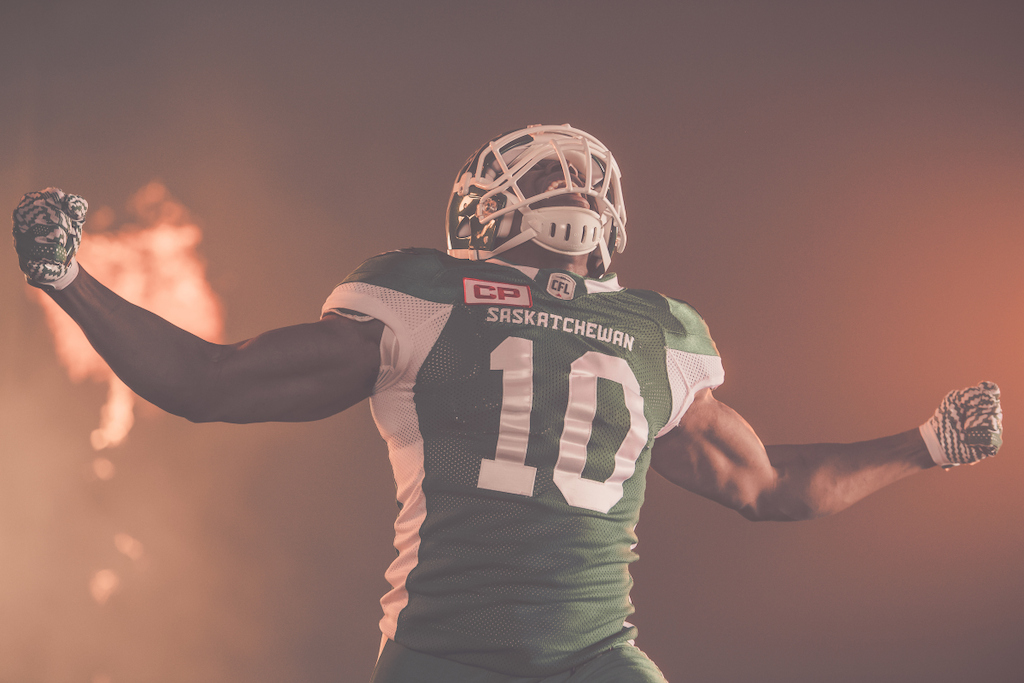 Henoc Muamba at the TSN/adidas content shoot. Photo credit: Johany Jutras/CFL