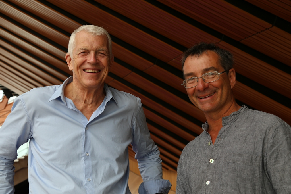 Jan Utzon, son of Jorn Utzon and Willy Hall, son of Peter Hall