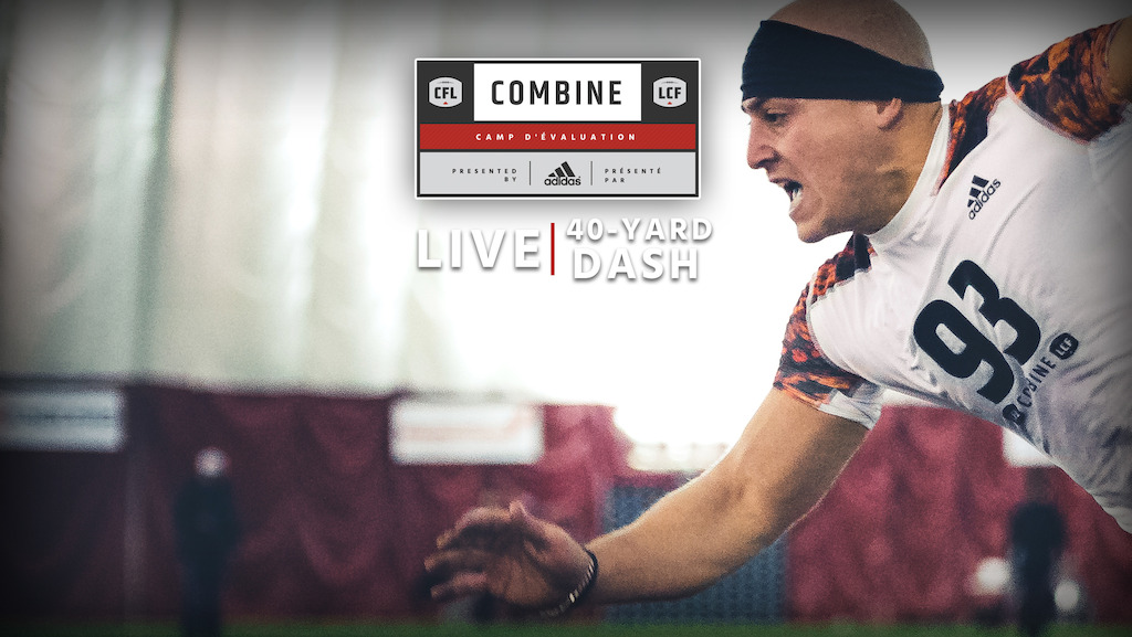 The 40-yard dash at the CFL Combine presented by adidas takes place tomorrow morning