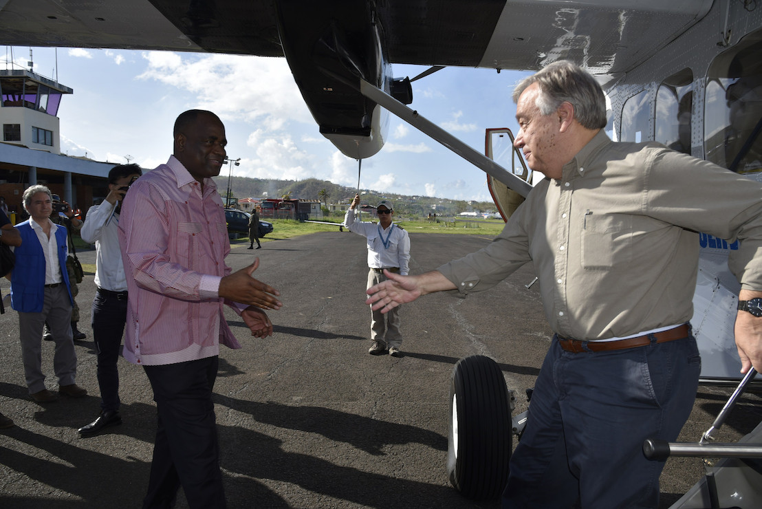 UN Secretary General Visits Dominica