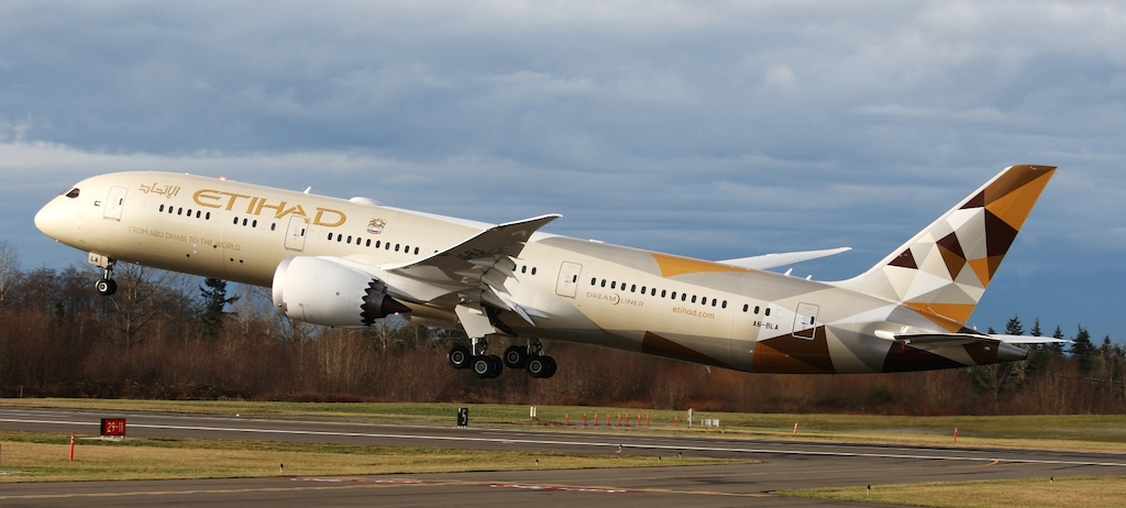 Etihad Airways B787 Dreamliner