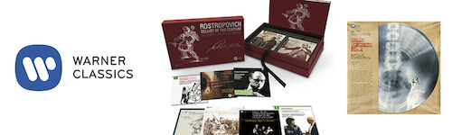 Warner Classics marks the 10th Anniversary of Mstislav Rostropovich's death and 90 years since his birth with major 2017 releases including the 43-disc box set <i>Cellist of the Century</i>