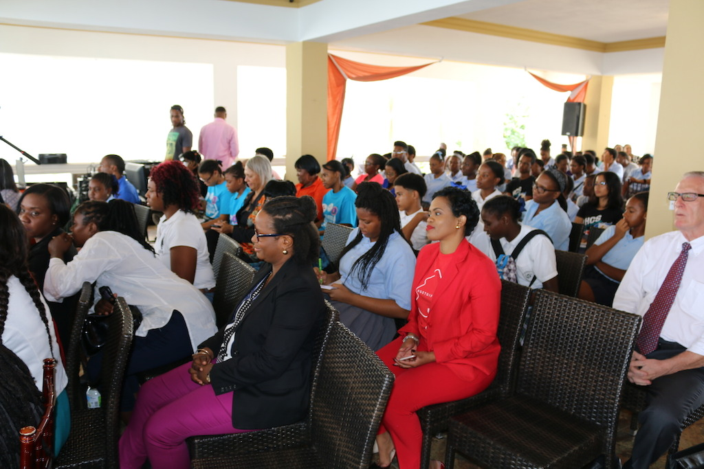 Cross section of the audience at the Vini Koze Forum on Youth Empowerment in Anguilla.