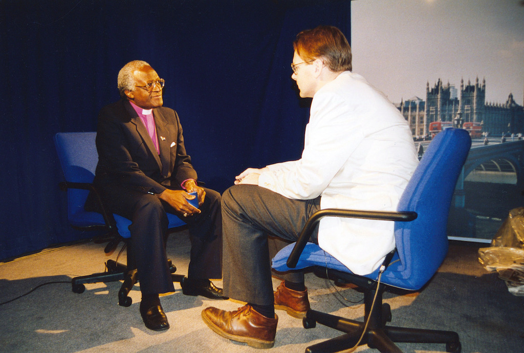 Colvin with Archbishop Desmond Tutu - 1994