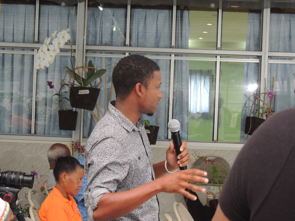 Young St. Lucian Farmer calls for a Land Use Policy at the Vini Koze Forum on Agriculture.