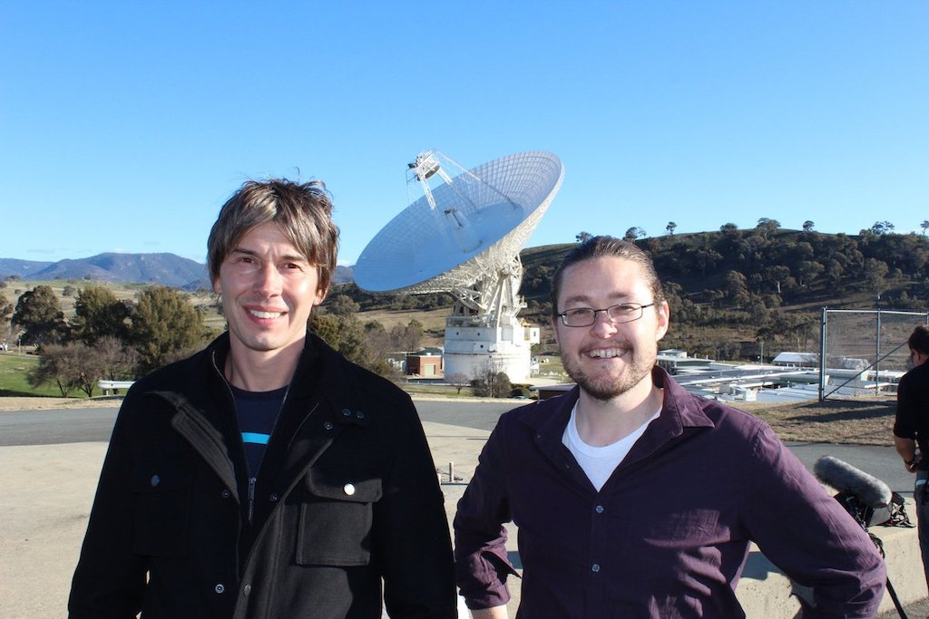 Professor Brian Cox and ANU astrophysicist Dr Brad Tucker. Image: ANU.