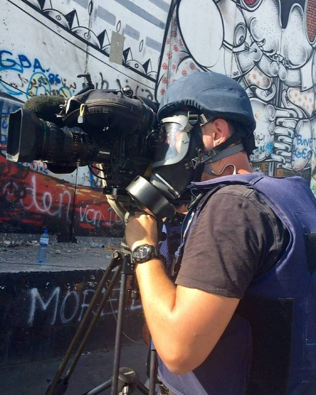 Matt Marsic films on location in the middle east