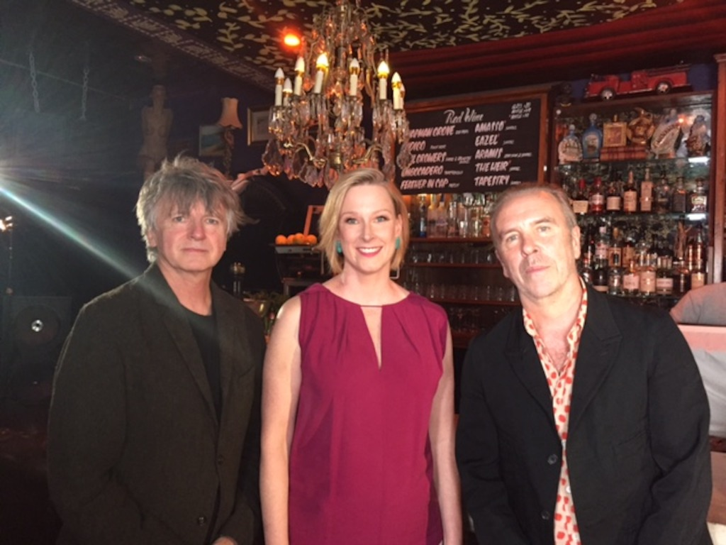 Crowded House's Neil Finn & Nick Seymour speak with Leigh Sales tonight on 7.30