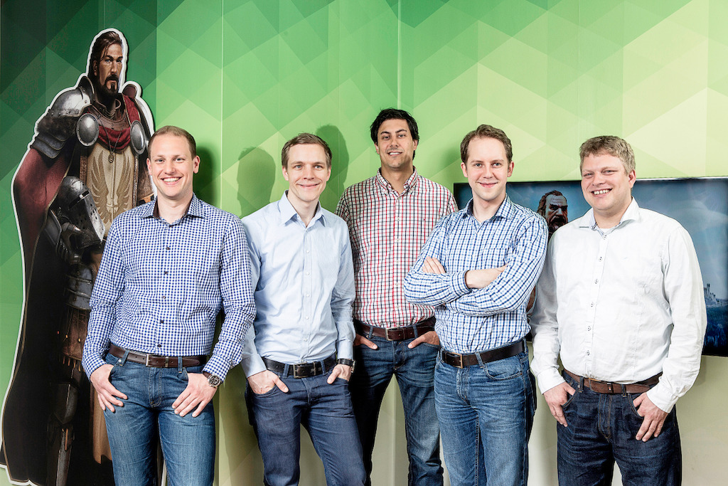 InnoGames Management (vlnr.): Christian Pern, Eike Klindworth, Armin Busen, Hendrik Klindworth, Michael Zillmer