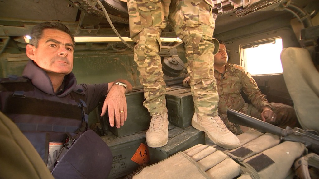 ABC's award winning Middle East correspondent, Matt Brown in Iraqi Army humvee
