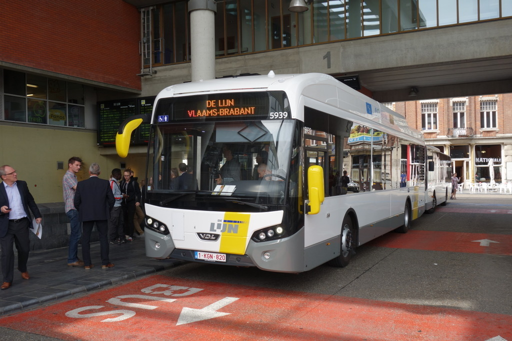 Hybride bus in Leuven (Fabrikant: VDL)