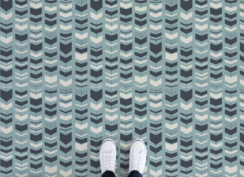 Bass | Retro Arrow Pattern Vinyl Flooring
