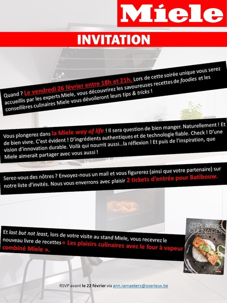 Invitation Miele - Batibouw