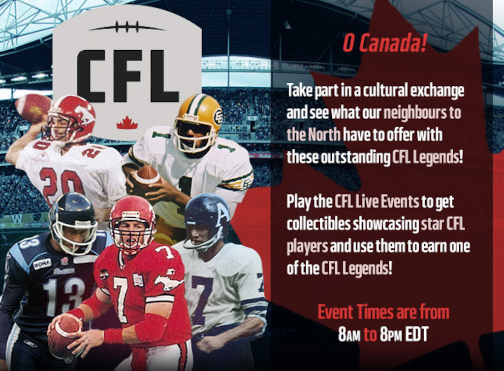 CFL in Madden NFL Mobile game.